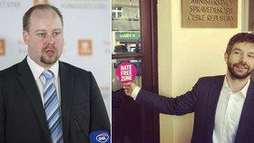 Z rivalů spolupracovníci. Bývalý sociální demokrata Jeroným Tejc má být politickým náměstkem ministra spravedlnosti Roberta Pelikána z ANO.