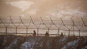 Plot poblíž hranice mezi KLDR a Jižní Koreou