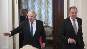 Britský ministr zahraničí Boris Johnson jednal v Moskvě se svým protějškem Sergejem Lavrovem.