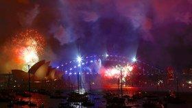 Velkolepý novoroční ohňostroj v australském Sydney