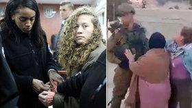 16letá Palestinka Ahida Tamímíová u izraelského soudu