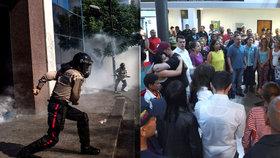 Protesty proti vládě ve Venezuele