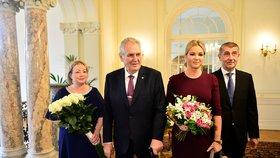 Premiér Andrej Babiš dorazil na tradiční novoroční oběd s prezidentem Milošem Zemanem do Lán.