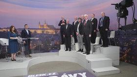 Superdebata prezidentských kandidátů: Společný zpěv státní hymny