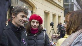 Kandidát na prezidenta Marek Hilšer s manželkou Monikou