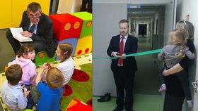 Po ministerstvu financí, kde dětskou kupinu Korunka otevíral Andrej Babiš, mají na životním prostředí Žabičku. Otevřel ji Richard Brabec (oba ANO).
