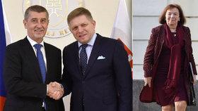 První státní návštěva premiéra Babiše na Slovensku: Nechyběla ani Livia Klausová