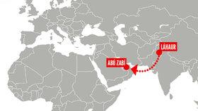 Tereza chtěla odletět z pákistánského Láhaur do Abú Zabí.