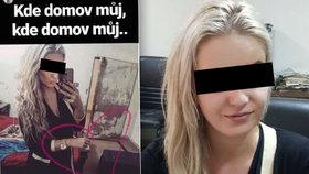 Poslední Terezina fotka před zadržením. Je na snímku kufr, ve kterém drogy pašovala?