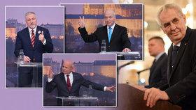 Miloš Zeman nechodil před prvním kolem prezidentských debat do žádných diskusí. I přesto jeho jméno často v debatách Blesku zaznělo. Někteří kandidáti současného prezidenta nešetřili.