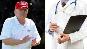 Trumpa čeká preventivní lékařská prohlídka.