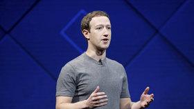 Zakladatel a CEO společnosti Facebook Mark Zuckerberg na každoroční konferenci pro vývojáře Facebook F8