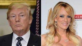 Donald Trump s pornoherečkou Stormy Daniels (Stephanií Cliffordovou)