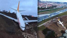 Letadlo málem skončilo v Černém moři. Naštěstí se nikomu nic nestalo.