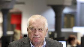 Václav Klaus ve studiu Blesku.