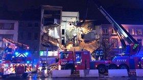 Exploze v Antverpách poničila tři domy.