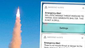 Havajané o víkendu prožili šok, přišla jim zpráva, že se k ostrovu blíží raketa.