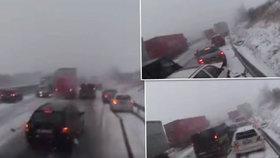 Unikátní video z kabiny kamionu ukazuje, jak se stala nehoda na D1.
