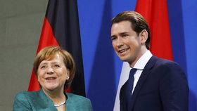 Německá kancléřka Merkelová se v Berlíně sešla s rakouským kancléřem Kurzem.