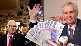 Češi sázejí i na nahá prsa u voleb. Na Drahoše a Zemana už prosázeli přes 140 milionů