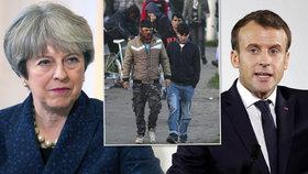 Macron s Mayovou budou jednat o migrační krizi.