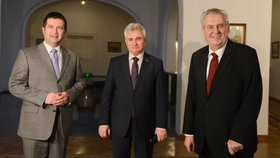 2017: Novoroční oběd šéfů obou parlamentních komor na Pražském hradě. Uskuteční se pravidelné setkání i o rok později?