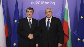Andrej Babiš v Bulharsku s premiérem Bojko Borisovem