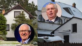 O Jiřím Drahošovi a Miloši Zemanovi promluvili jejich sousedé z jejich chat, kam kandidáti jezdí.