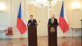 Premiér Andrej Babiš předal prezidentovi Miloši Zemanovi demisi vlády. Zeman ho následně pověřil jednáním o vládě znova.