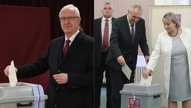 Prezidentští kandidáti Jiří Drahoš a Miloš Zeman už mají ve 2. kole odvoleno.