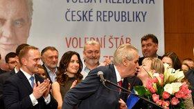Tisková konference Miloše Zemana poté, co obhájil své vítězství v prezidentské volbě