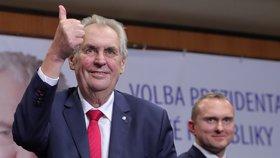 Miloš Zeman i podruhé uspěl v přímé prezidentské volbě a bude tak pokračovat jako hlava.