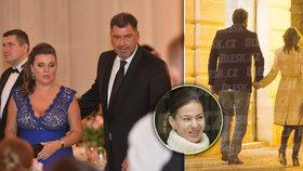 Je manželství Nejedlého a sestry Andrey Verešové u konce? Na veřejnost chodí s jinou ženou.