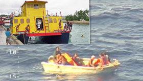 Záchranářům se podařilo najít 7 přeživších z potopeného trajektu.
