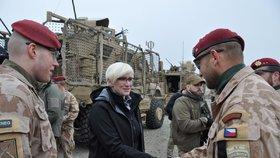 Ministryně obrany Karla Šlechtová (za ANO) navštívila 29. a 30. ledna 2018 české vojáky, kteří jsou na misi v Afghánistánu.