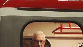 Jiří Drahoš v metru