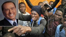 Berlusconi označil migranty za sociální bombu před výbuchem.