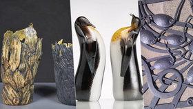 Vázy, skelné skulptury i kovářské výtvory. Galerie 9 představí tvorbu Dany Novákové a jejích studentů