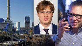 Vyšetřovací komisi k OKD vede Pirát Lukáš Černohorský (uprostřed). Pro Zdeňka Bakalu pochvalná slova nemá.