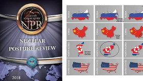 Chyby v doktríně - Kurilské ostrovy jsou přiřazené k Rusku, Tchaj-wan k Číně, přes celý Korejský poloostrov je zobrazená severokorejská vlajka.