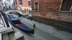Vyschlé kanály v Benátkách