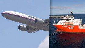 Loď, která pátrala po zmizelém letu MH370, také na chvíli zmizela.
