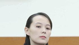 Sestra severokorejského vůdce Kim Jo-čong na jednání s jihokorejským prezidentem.