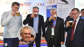 Miloš Zeman na letošní olympiádu nedorazí, Český dům ale nezůstal při otevření bez prezidenta, společně s předsedou Senátu Milanem Štěchem se ho zúčastnil i slovenský prezident Andrej Kiska.
