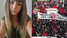 Vražda osmnáctileté Pamely Mastropietrové vyvolala protesty.
