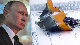 Vladimir Putin kvůli pádu Antonova u Moskvy se 71 lidmi na palubě nařídil zřídit speciální komisi.