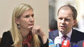 Bývalí ministři školství Kateřina Valachová a Marcel Chládek (oba ČSSD)