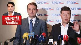 Komentář Petra Holce k výrokům členů SPD.  Inspirovali se u Zemana.