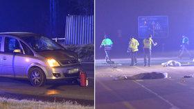 Auto u Českého Brodu srazilo dva chodce: Oba zraněním podlehli.