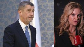 Premiér v demisi Andrej Babiš (ANO) a jeho žena Monika